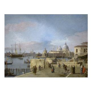 Entrada al Gran Canal por Canaletto Postal
