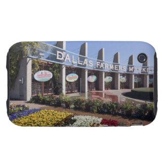 Entrada al mercado de los granjeros de Dallas Tough iPhone 3 Fundas