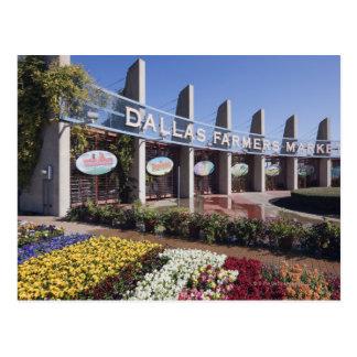 Entrada al mercado de los granjeros de Dallas Tarjetas Postales
