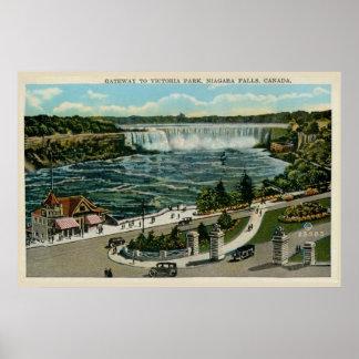 Entrada al parque de Victoria, Niagara Falls, Póster