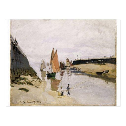 Entrada al puerto de Trouville (1870) Tarjetas Postales