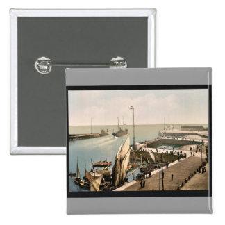 Entrada al puerto, vintage Photochr de Havre, Fran Pin