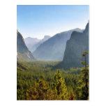 Entrada al valle de Yosemite Tarjetas Postales