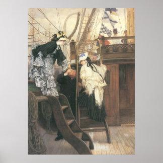 Entrada al yate de James Tissot Impresiones