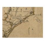 Entrada Carolina del Norte 1775 de Ocracoke Tarjetas Postales