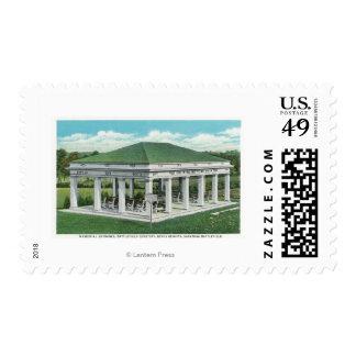 Entrada conmemorativa en la opinión del cementerio timbres postales