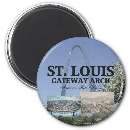 Entrada de ABH St. Louis Imán Redondo 5 Cm