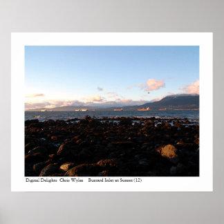 Entrada de Burrard en la puesta del sol (48) Póster