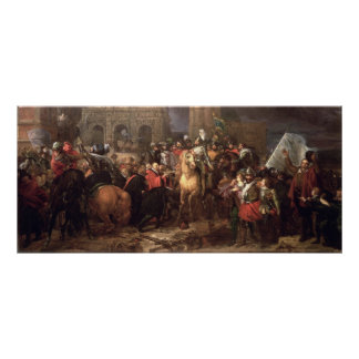 Entrada de Enrique IV en París, el 22 de marzo de  Poster