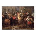 Entrada de Enrique IV en París, el 22 de marzo de  Tarjeta De Felicitación