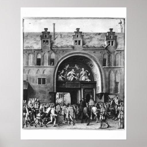 Entrada de Hercule Francois de Francia Póster