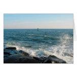 Entrada de la ciudad del océano tarjetas