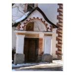 Entrada de la iglesia tarjetas postales