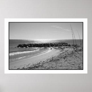 Entrada de la playa de Dania Póster
