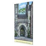 Entrada de la Universidad de Yale Lona Envuelta Para Galerias