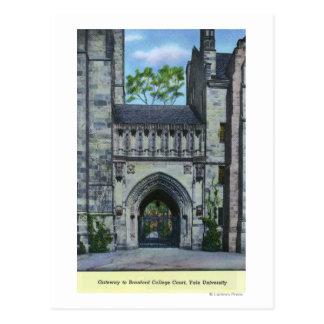 Entrada de la Universidad de Yale Postales