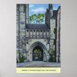 Entrada de la Universidad de Yale Poster