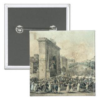 Entrada de Louis XVIII con Porte Pin Cuadrado