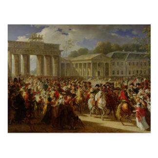 Entrada de Napoleon I en Berlín Tarjetas Postales