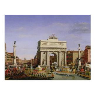 Entrada de Napoleon I en Venecia, 1807 Tarjeta Postal