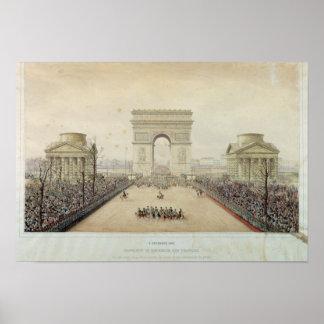Entrada de Napoleon III en París Poster