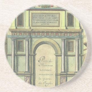 Entrada de puerta de la iglesia de la arquitectura posavasos diseño