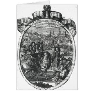 Entrada de rey Louis XIV en Estrasburgo Tarjeta De Felicitación