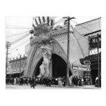Entrada del ángel de Coney Island del vintage en l Tarjetas Postales