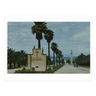 Entrada del campus universitario de Loyola (CA 196 Tarjeta Postal