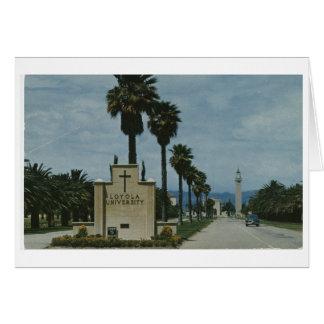 Entrada del campus universitario de Loyola (CA Tarjeta De Felicitación