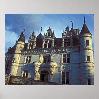 Entrada del castillo de Chenonceau Poster