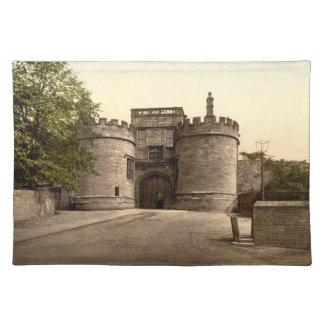 Entrada del castillo de Skipton, Yorkshire, Inglat Manteles Individuales