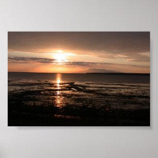 Entrada del cocinero de la puesta del sol de Alask Impresiones