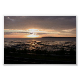 Entrada del cocinero de la puesta del sol de Alask Posters