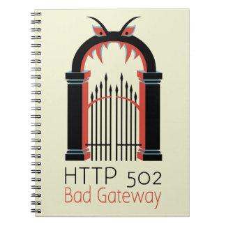 Entrada del malo del HTTP 502 Libro De Apuntes Con Espiral
