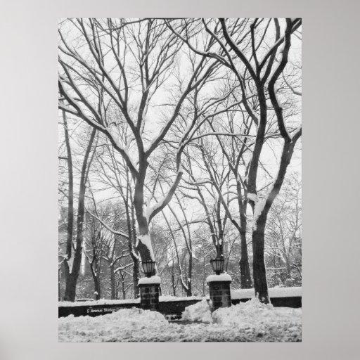 Entrada del subterráneo del Central Park (Quinta A Posters