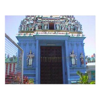 Entrada del templo hindú, la poca India Postales