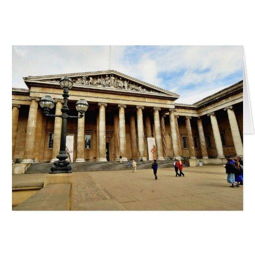 Entrada delantera a British Museum en inglés de Lo Felicitación