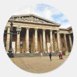 Entrada delantera a British Museum en inglés de Pegatinas Redondas