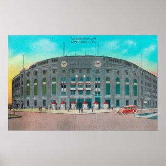 Entrada delantera a la opinión del Yankee Stadium Póster