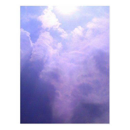Entrada en el cielo: tarjetas postales