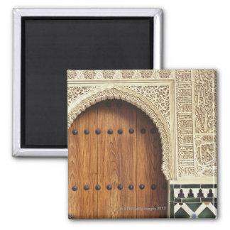 Entrada en el palacio de Alhambra en Granada, Espa Iman Para Frigorífico
