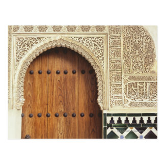Entrada en el palacio de Alhambra en Granada, Tarjetas Postales