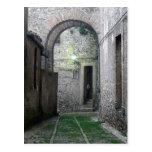 Entrada en la postal de Erice Sicilia