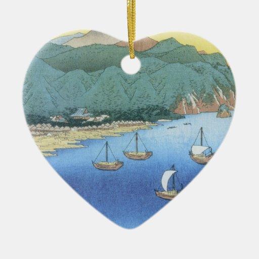 Entrada en la provincia de Awa de Ando Hiroshige Ornamentos De Navidad