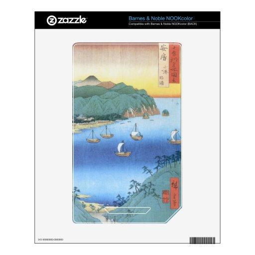 Entrada en la provincia de Awa de Ando Hiroshige Skin Para El NOOK Color