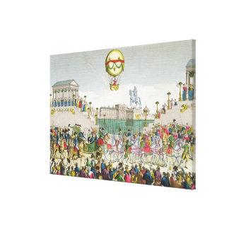 Entrada en París Louis XVIII del 4 de mayo de 1814 Lienzo Envuelto Para Galerías
