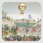 Entrada en París Louis XVIII del 4 de mayo de 1814 Calcomanías Cuadradases