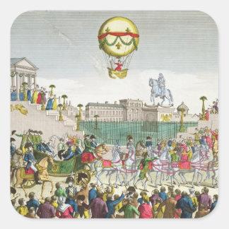 Entrada en París Louis XVIII del 4 de mayo de 1814 Pegatina Cuadrada