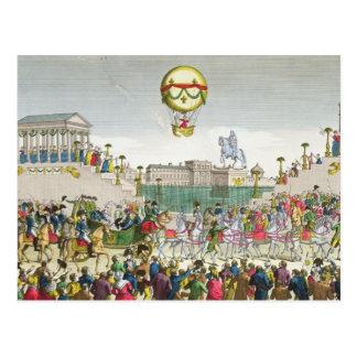Entrada en París Louis XVIII del 4 de mayo de 1814 Postal
